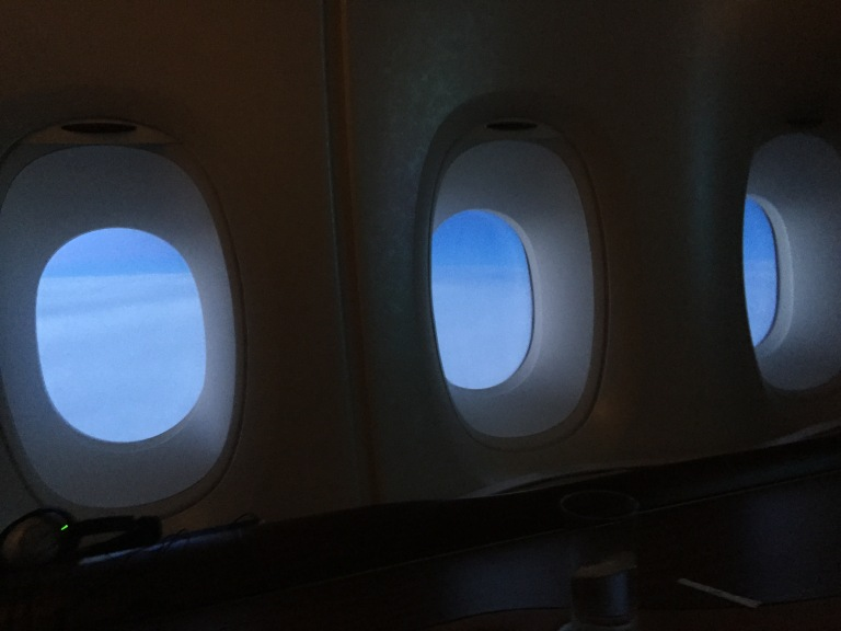 Triple windows as we descent into Europe